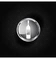Wine bottle icon vector image