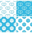 Answer message patterns set vector image vector image