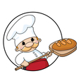 baker with bread circle vector image vector image