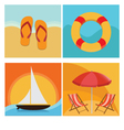 Beach and summer holiday vector image vector image