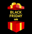 black friday luxury sale open gift box vector image