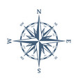 blue wind rose vector image