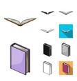book bound cartoonblackflatmonochromeoutline vector image vector image