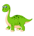Cartoon adorable dinosaur vector image vector image