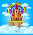 castle above a cloud vector image