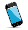 cell phone over white background vector image vector image