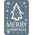 christmas greeting with christmas tree dark vector image vector image