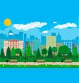 city park concept vector image vector image