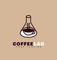 coffee lab logo vector image vector image