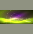 color shiny neon lights background with abstract vector image vector image