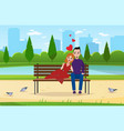 couple in love young people sit in vector image