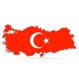 Creative pixel Turkey map vector image vector image