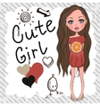 Cute Girl vector image vector image