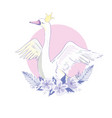 cute lovely princess swan vector image