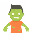 Cute zombie portrait Halloween vector image