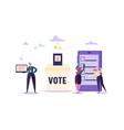 e-voting concept characters voting using tablet vector image vector image