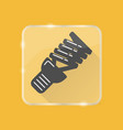 energy saving light bulb silhouette icon in flat vector image