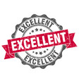 excellent stamp sign seal vector image vector image