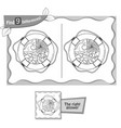 find 9 differences game lifebuoy vector image vector image