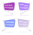 flat design web stickers tags banners and vector image