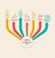 four 4 ps marketing mix infographic diagram vector image