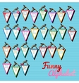 Funny alphabet triangular cards with letters vector image