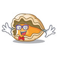 geek oyster character cartoon style vector image