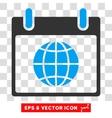 Globe Calendar Day Eps Icon vector image vector image