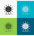 globe network arrow news worldwide icon over vector image vector image