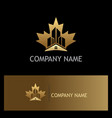 home building canada gold logo vector image