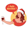in spanish language retro style vector image vector image