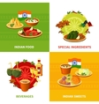 Indian Food 4 Flat Icons Square vector image vector image