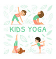 kids yoga banner template with children vector image vector image