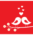 Kiss of birds vector image