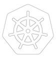 kubernetes linear logo vector image vector image