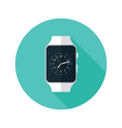 Light Smart Watch Flat Icon vector image