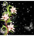 lilies design vector image vector image
