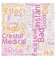 lower cholesterol level text background wordcloud vector image vector image