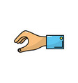 man hand to business negotiation icon vector image vector image