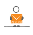 man with letter envelope color vector image