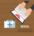 medical onilne aid health care vector image vector image