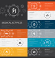 medical services infographic 10 line icons banners vector image vector image