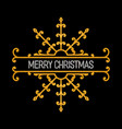 merry christmas inscription vector image vector image
