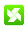 origami shuriken icon green vector image vector image