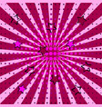 pink stars colored back pop art style background vector image