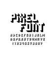 pixel font alphabet vector image