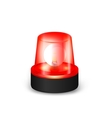 Red flashing siren vector image vector image