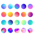 rounded holographic gradient sphere set gradient vector image