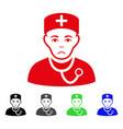 sad physician icon vector image vector image