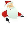 santa claus blank sign vector image
